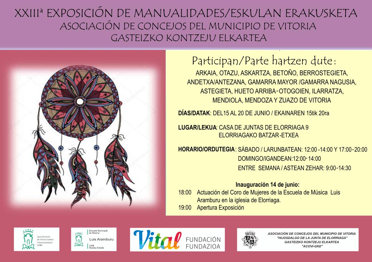 XXIII Exposición de manualidades/Eskulan erakusketa @ Casa de Juntas de Elorriaga Nº9, Vitoria-Gasteiz