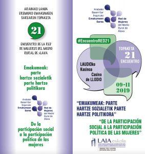 Encuentro anual de la Red de Mujeres del Medio Rural de Álava @ Casino de Llodio | Elorriaga | Euskadi | España